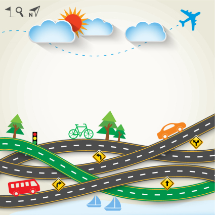 Creative highway tourism clip art vector