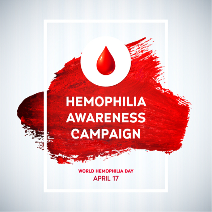 World Hemophilia Day poster vector material