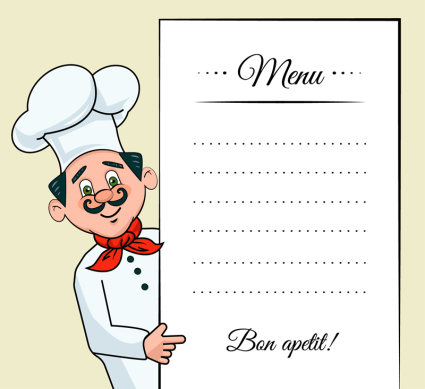 Creative chef decorates the menu