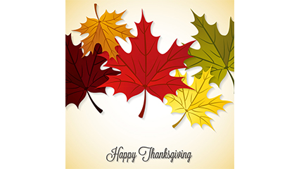 Thanksgiving autumn maple leaves vector material