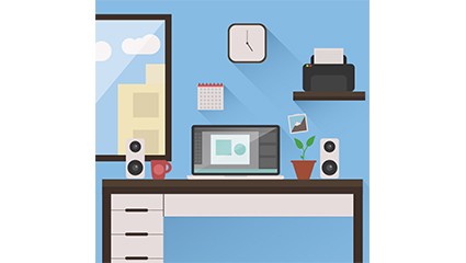 Tidy studio illustrator vector material