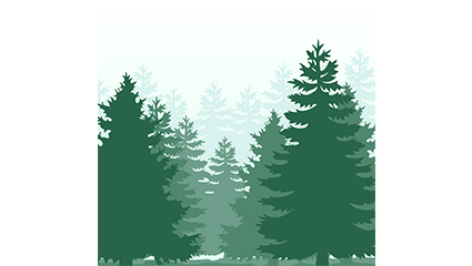 Green Forest silhouette vector material