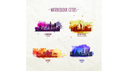 4 Urban Design Vector Drawing