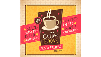 Creative Cafe Poster Vector