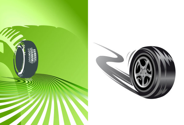 tires Vector material -1