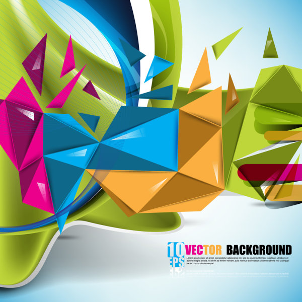 Beautifully colorful background 01 - vector
