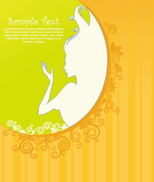 Beautiful silhouette pattern 04 - vector