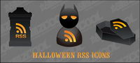 Halloween rss icon vector material