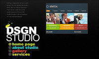 Designer personal homepage flash site-wide template material
