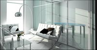 3D bright drawing room picture material