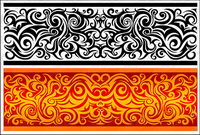 A practical classical pattern vector material