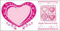 lovely heart-shaped vector material