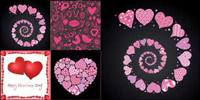 4 lovely Valentine element vector material