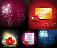 Romantic love eCards element vector material