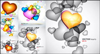 Colorful heart-shaped graphics - Vector