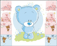Cute cartoon bear - vector material