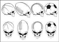 Movement elements skull