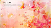 Romantic floral pattern background vector design material -4