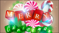A gorgeous Christmas elements background 01 - vector material