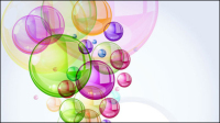 Colorful bubbles background 01 - vector material