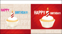 Birthday cake 04 - vector material