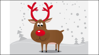 The Cartoon Christmas elk 05 - vector material