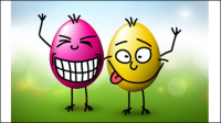 Funny eggs 02 - vector material