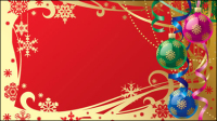 Gorgeous Christmas background 01 - vector material