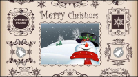 Christmas pattern border 02 - vector material