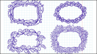 Hand-drawn cartoon lace 01 - vector material
