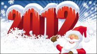 Winter Christmas material 04 - vector material