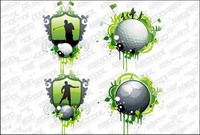 Golf and football vector