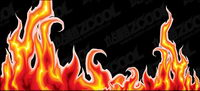 Cool flame vector material