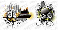 Music City illustrator vector material