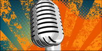 Silver microphone vector material