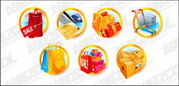 Vector material consumption shopping icon