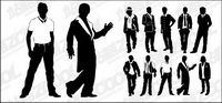 Various types of material men Vector