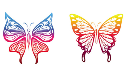 Butterfly paper cutting - vector
