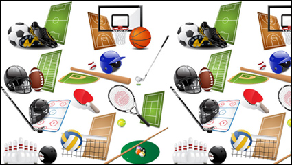 Sports equipment vector material -05