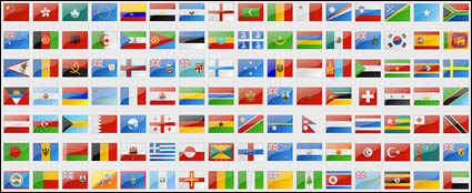 National flags and regional flag png icon