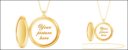 Gold photo pendants