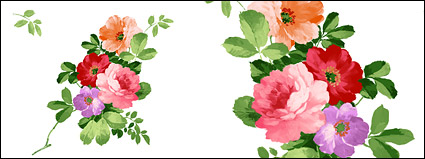 Hand-painted flowers layered material psd-3