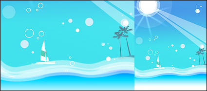 Summer Korean style background material layered psd-9